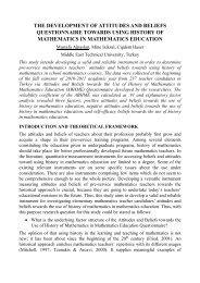 the development of attitudes and beliefs questionnaire ... - Cerme 7