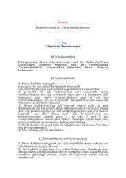 Entwurf Kollektivvertrag für Universitätsbedienstete 1. Teil ...