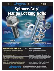 Spinner-Grip™ Flange Locking Bolts - Pneumatic Technology, Inc