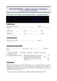 bulletin de reservation hôtelière