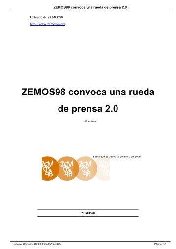 ZEMOS98 convoca una rueda de prensa 2.0