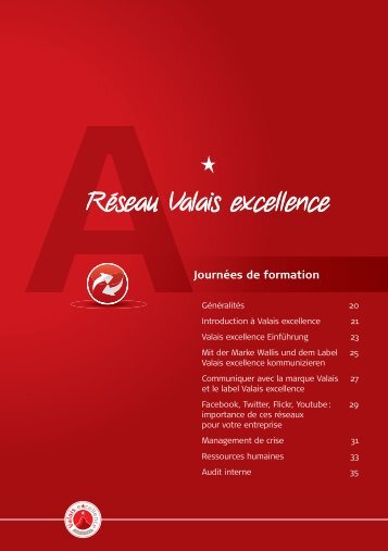 Audit interne - Valais excellence