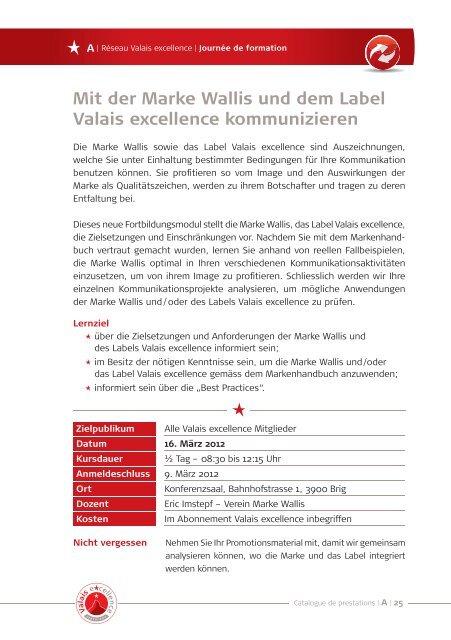 Audit interne - Valais excellence