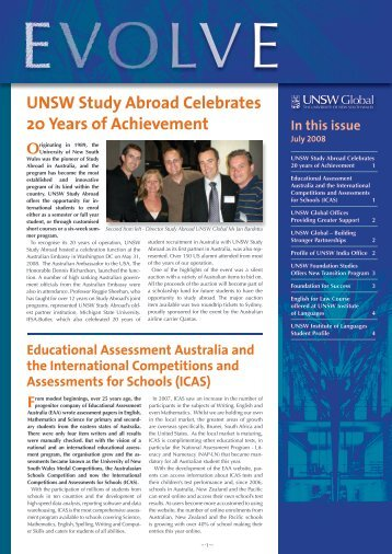 UNSW Study Abroad Celebrates 20 Years of Achievement