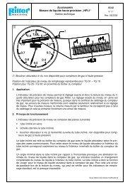 "Mesure de liquide haute précision ""HPLI"" Notice technique"