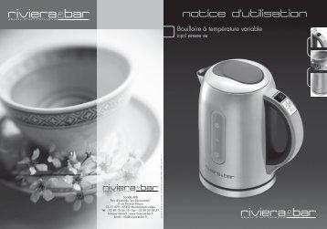 Notice d'utilisation - Bouilloire inox à température ... - Riviera et Bar