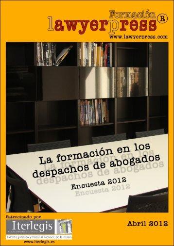 Lawyerpress Encuesta de Formacion en los despachos 2012