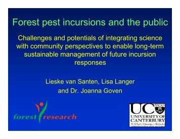 Forest pest incursions and the public