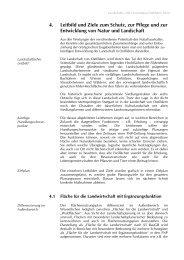 4. Leitbild und Ziele zum Schutz, zur Pflege und ... - Geonline GmbH