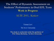 The Effect of Dynamic Assessment on Students - ALTE