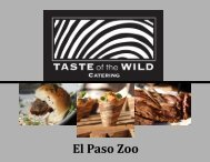 Event Services - the El Paso Zoo