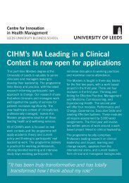 MA Flyer.pdf - Centre for Innovation in Health Management