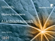 A Landscape Approach - Centre for Innovation in Health Management
