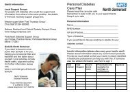 Personal Diabetes Care Plan - North Somerset PCT