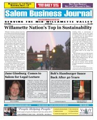 Sep 2008 - Salem Business Journal