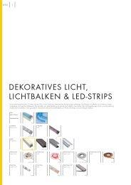 DEKORATIVES LICHT, LICHTBALKEN & LED-STRIPS - Kube GmbH