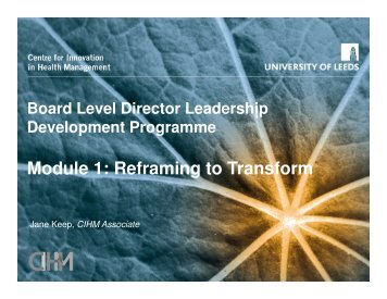 Module 1: Reframing to Transform