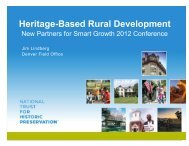 Heritage-Based Rural Development - New Partners for Smart ...