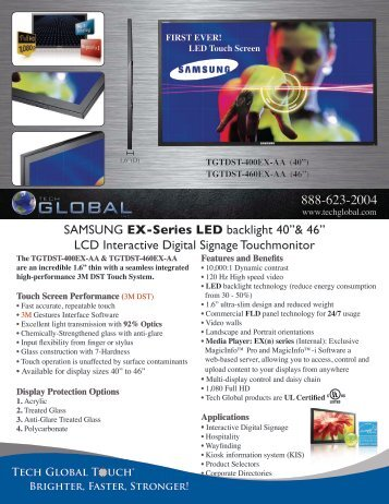 Samsung's 40″ LED with 3M DST touch technology - Tech Global