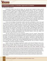 Evolutionary Creation: A Christian Approach to Evolution - BioLogos