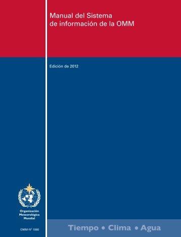 Manual del Sistema de información de la OMM - E-Library - WMO