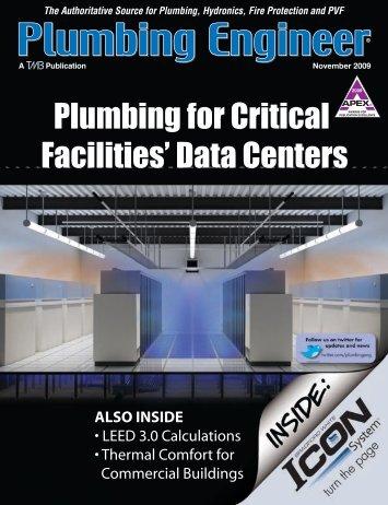 November 2009 Plumbing For Critical Facilities' Data Centers