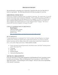 PROGRAM OVERVIEW We look forward to welcoming you to ...