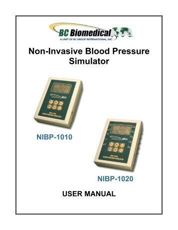 Non-Invasive Blood Pressure Simulator - BC Group International Inc.