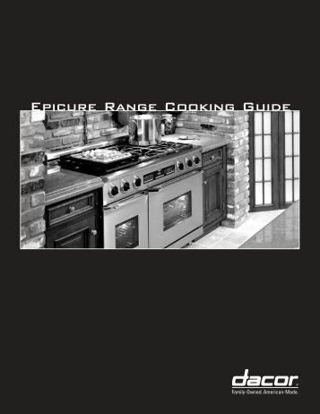 Epicure Range Cooking Guide - Dacor
