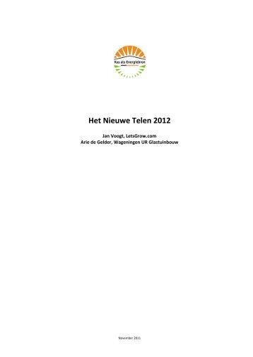 Het Nieuwe Telen 2012 - Energiek2020
