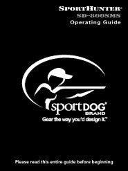 Product Manual - SportDOG