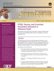 PTSD, Trauma, and Comorbid Psychiatric Disorders in Detained Youth