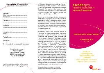 9 décembre 2010 - Ascodocpsy