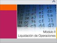 Módulo II Liquidación de Operaciones - Indeval