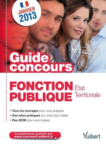 Guide Concours Fonction publique d'État et Territoriale - Vuibert