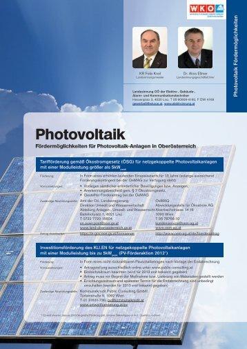 Photovoltaik Fördermöglichkeiten - Elektroinnung Oberösterreich