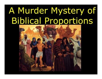 A Murder Mystery of Biblical Proportions - Congregation Yeshuat ...