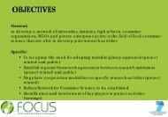 OBJECTIVES - Focus-Balkans