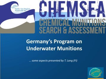 Germany's Program on Underwater Munitions - Chemsea