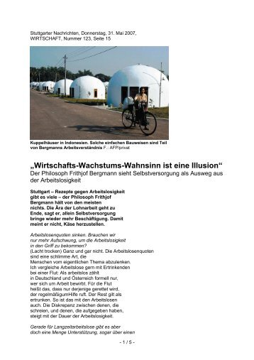 Stuttgarter Nachrichten, Donnerstag, 31 - Neue Arbeit - Neue Kultur