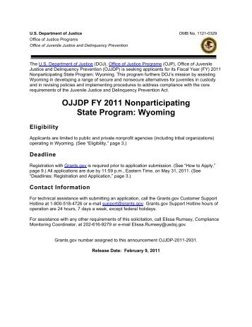 Wyoming - Office of Juvenile Justice and Delinquency Prevention