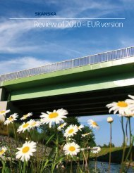 Review of 2010 – EUR version - Skanska