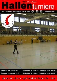 Turnierheft - TSV Pfedelbach