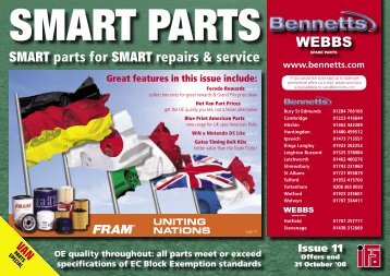 SMART parts for SMART repairs & service