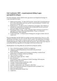 Sak Landsmøte 2009 – organisasjonsutvikling Leppe ...