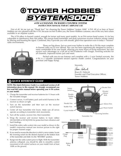4-th 4-channel fm radio control system quick     - Tower Hobbies