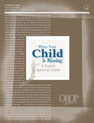 Is Missing: - Office of Juvenile Justice and Delinquency Prevention