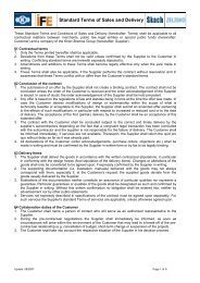 Standard Terms of Sales and Delivery - Zelisko