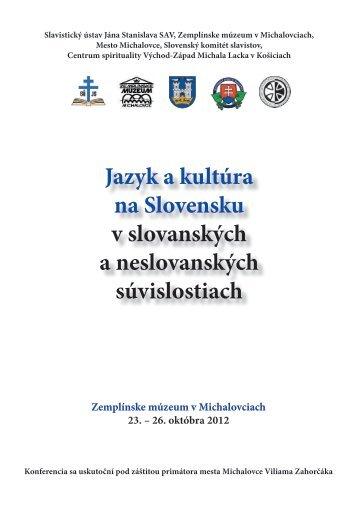 Program konferencie v PDF - Slavistický ústav Jána Stanislava SAV