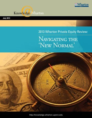 2013 Wharton Private Equity Review